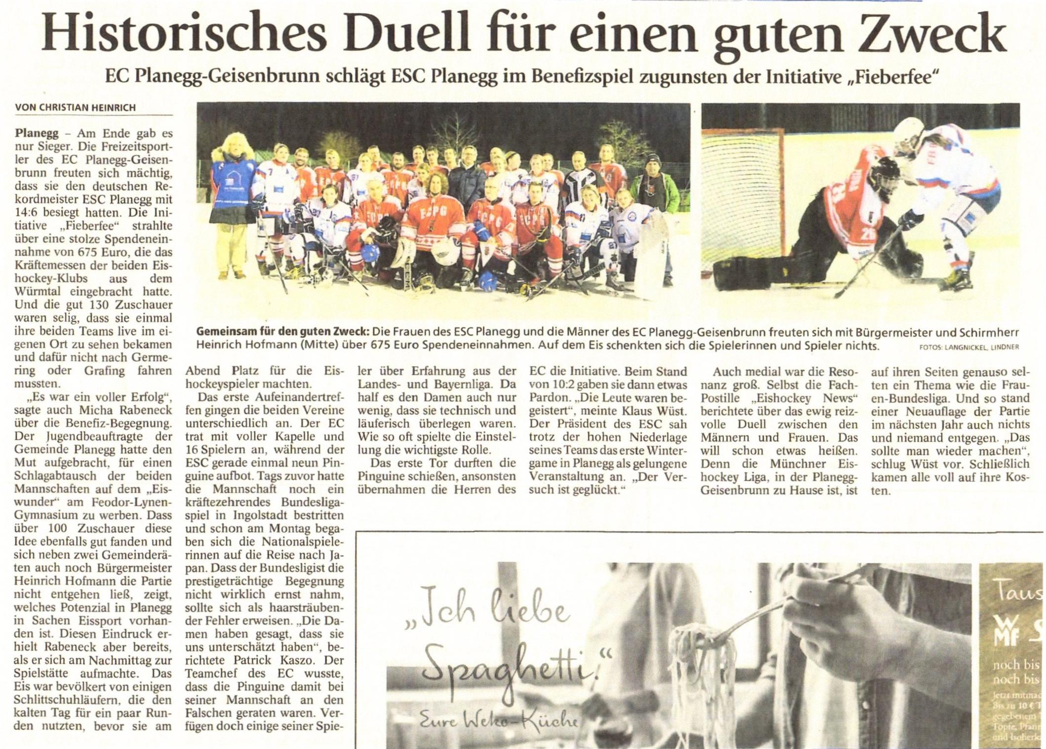 EC Planegg-Geisenbrunn | Start - Zeitungsbericht Wintergame Münchner ...